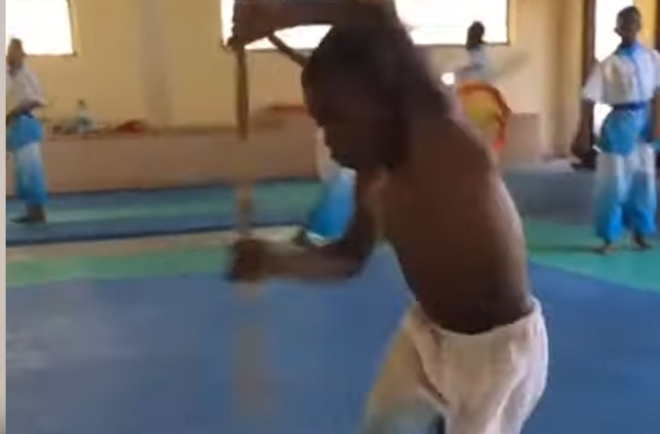China Teaching African Children Acrobatics and Martial Arts- Gymnastics Africa